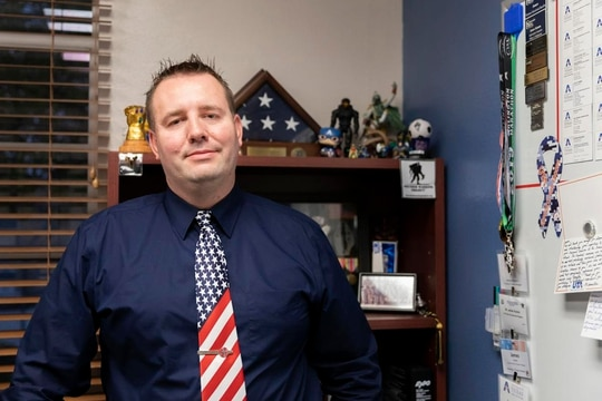 James Kumm is executive director of the Military and Veteran Services Center at the University of Texas at Arlington. (Anna Geyer/The Shorthorn)