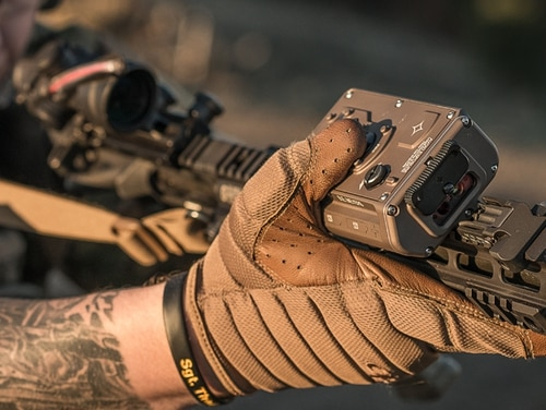 Marines have chosen the Glare Recoil device as part of their Ocular Interrupter System to use as a nonlethal deterrent to