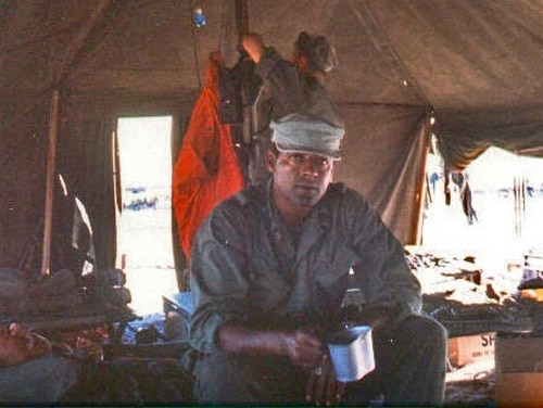 Then-Gunny John Canley originally was awarded the Navy Cross while serving as a company commander at the outset of the infamous Tet Offensive in 1968. (Courtesy of the office of Julia Brownley)