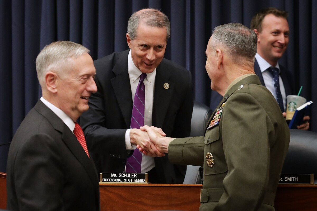 These 12 Defense Experts Hope To Guide The Pentagon Forward Chairman Director Chair Dc 355 Us Secretary Jim Mattis Left And Of Joint Chiefs Staff Gen Joe Dunford Right Greet House Armed Services Committee