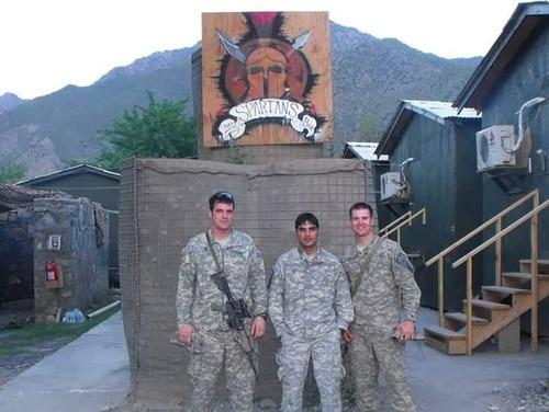 From left: Pat Flanagan, Nasirullah
