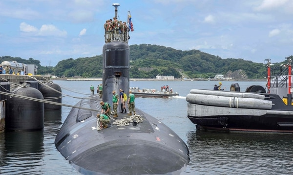 The Seawolf-class fast-attack submarine Connecticut was moored at U.S. Fleet Activities Yokosuka for a port visit on Aug. 13. Designed to be the world's quietest submarines, Seawolf-class submarines are one of the Navy's most advanced undersea weapons but delays getting into and out of depot maintenance cost taxpayers $350.5 million between fiscal years 2008 and 2018, according to the Government Accountability Office. (MC1 Benjamin Dobbs /Navy)