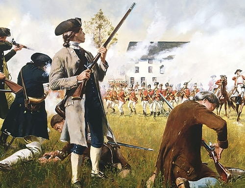 At 5:00 am on April 19, 1775, about 700 British troops marched on a weapons cache in Lexington, Massachusetts — a move that sparked America's war for independence.