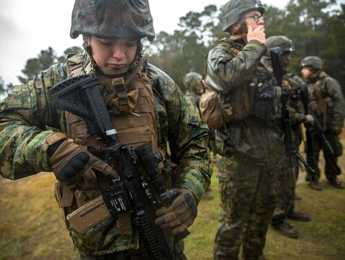 Congress is withholding some funding for new M27 purchases until the Marine Corps commandant provides more analysis on how the service is modernizing small arms. (Lance Cpl. Michaela Gregory/Marine Corps)