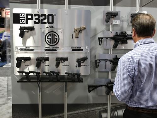 Sig Sauer P320 handgun on display at AUSA on Oct. 14, 2015.