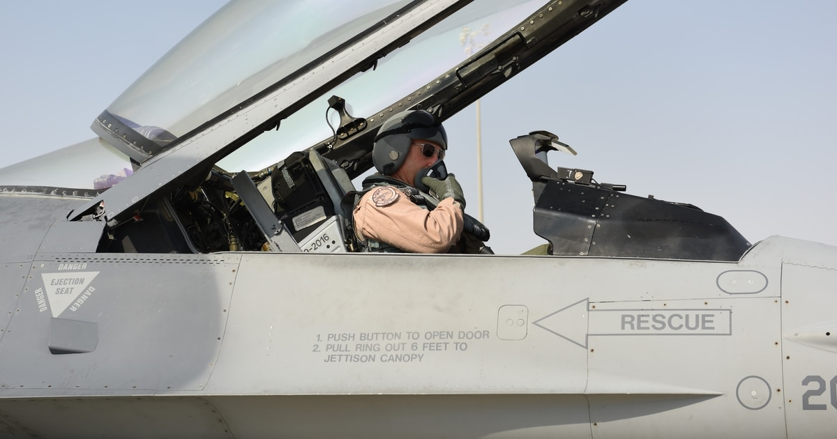 Storied 'Triple Nickel' fighter squadron deploys to Middle East