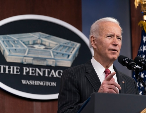 The first installment of President Joe Biden's budget plan contained only top-line discretionary spending numbers. (Alex Brandon/AP)