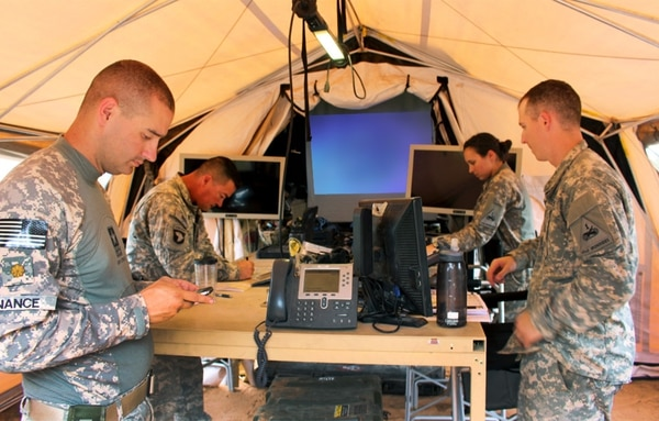 Researchers with the U.S. Army Research Development Engineering Command have found a host of ways to make mission command equipment more mobile, rugged, resilient and easier to use such as the Light Mobile Command Post pictured here. (RDECOM)