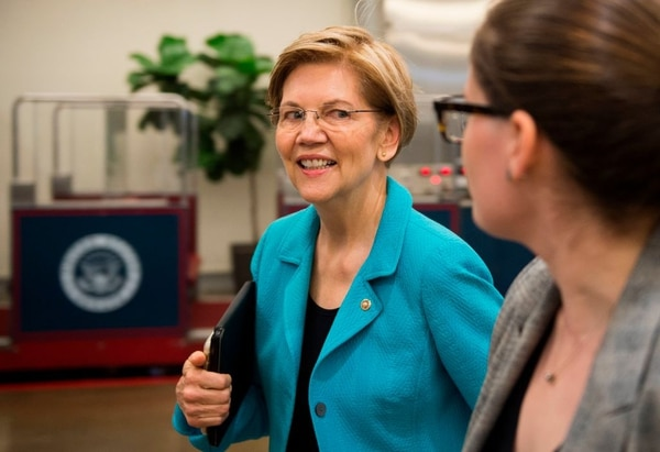 Sen. Elizabeth Warren, D-Mass., sent a letter last month to the head of U.S. Central Command and top commander for U.S. forces in the Middle East, requesting details of American military involvement in Yemen. (Andrew Caballero-Raynolds/AFP)