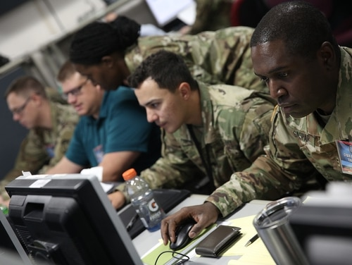 Cyber warriors at Cyber Flag 19.1 in June 2019. (Photos provided by U.S. Cyber Command Public Affairs)