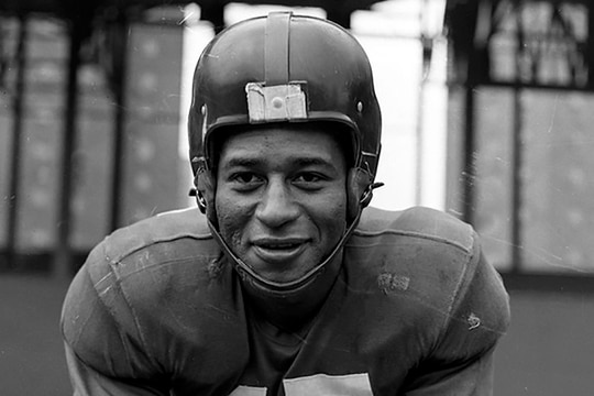 This undated photo provided by United States Coast Guard shows Emlen Tunnell, the first Black player inducted into the Pro Football Hall of Fame. (United States Coast Guard via AP)