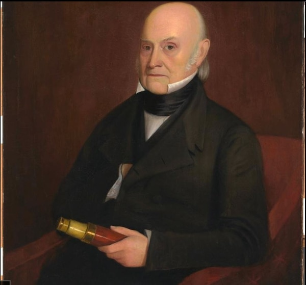John Quincy Adams, 11 Jul 1767 - 23 Feb 1848 (Oil on canvas portrait by William Hudson, Jr./ National Portrait Gallery, Smithsonian Institution)