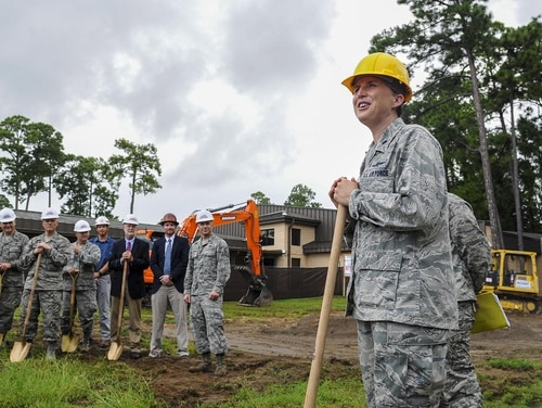 A groundbreaking for the new 39th Information Operations Squadron schoolhouse took place in August 2017 and construction is scheduled to be completed in late fiscal 2019. (Airman 1st Class Isaac O. Guest IV/Air Force)