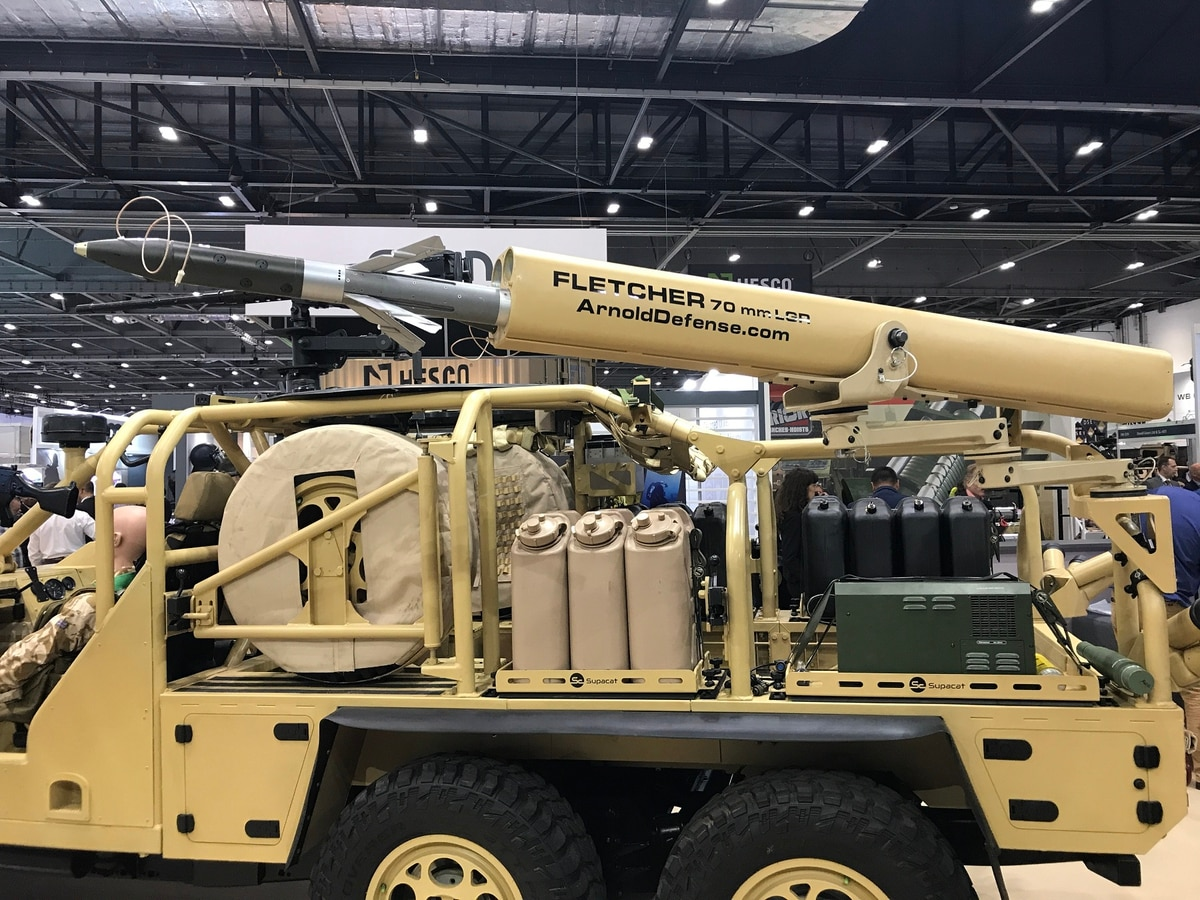 Laser Guided Rocket Launchers For Vehicles And Dismounted