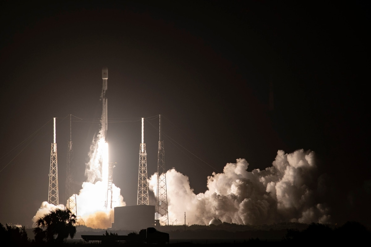 SpaceX launches Global Positioning System satellite from Florida, lands booster on ship