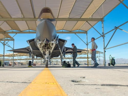 The head of the F-35 Program Office has told reporters he remains confident that the Defense Department will buy the 11th lot of F-35s at the lowest cost per plane so far. (Airman 1st Class Caleb Worpel/U.S. Air Force)