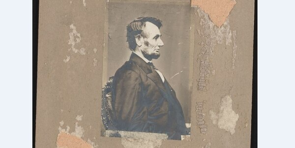 Portrait of Lincoln by Matthew B. Brady, Washington, D. C., February 9, 1864. (Library of Congress)