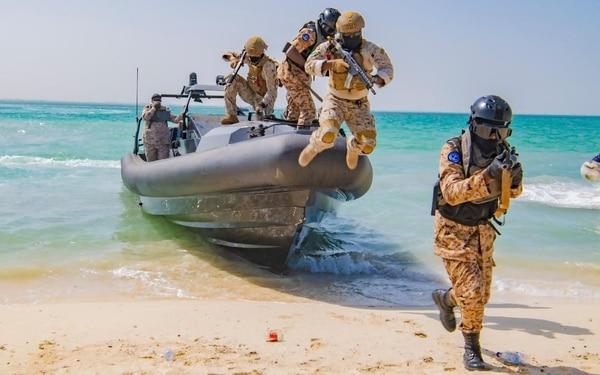 The Saudi-Sudanese naval exercise Al-Fulk 4 took place at King Faisal Naval Base. (Saudi Press Agency)