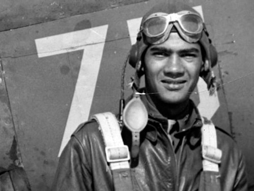 This undated photo provided by the Pentagon's Defense POW/MIA Accounting Agency shows Lawrence Dickson, a New York pilot killed during World War II. Dickson is first of the 27 Tuskegee Airmen still listed as missing in action whose remains the Pentagon says they have identified through DNA samples. (Defense POW/MIA Accounting Agency via AP)