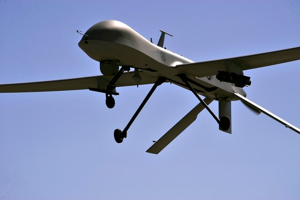 An MQ-1B Predator remotely piloted aircraft flies overhead during a training mission, May 13, 2013. (U.S. Air Force photo by 432nd Wing/432nd Air Expeditionary Wing/Released)
