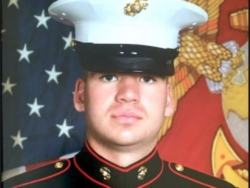 Marine Lance Cpl. Tristin Rzekonski was killed Oct. 30 while driving with his wife in San Diego. (Marine Medium Tiltrotor Squadrown 165 Facebook page)