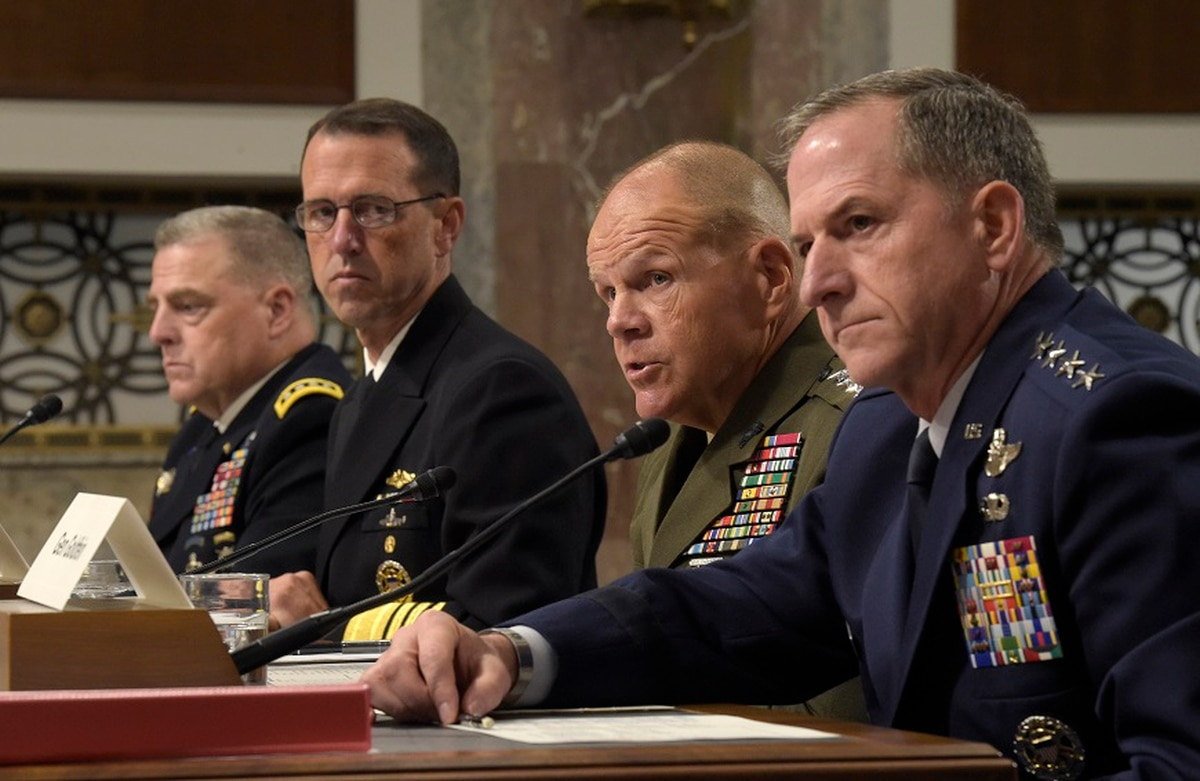 Inspired by Charlottesville, military chiefs condemn racism