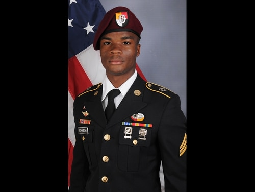 Sgt. La David Johnson died Oct. 4, 2017, from wounds sustained during enemy contact in Niger. He and three other soldiers killed in the attack were assigned to 3rd Special Forces Group at Fort Bragg, N.C. (Army)