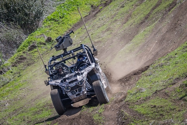 U.S. Marines with 3rd Battalion, 4th Marines test drive a Nikola Zero Reckless during Advanced Naval Technology Exercise 2018 (ANTX-18) at Marine Corps Base Camp Pendleton, California, March 19. (Lance Cpl. Rhita Daniel/ Marine Corps)