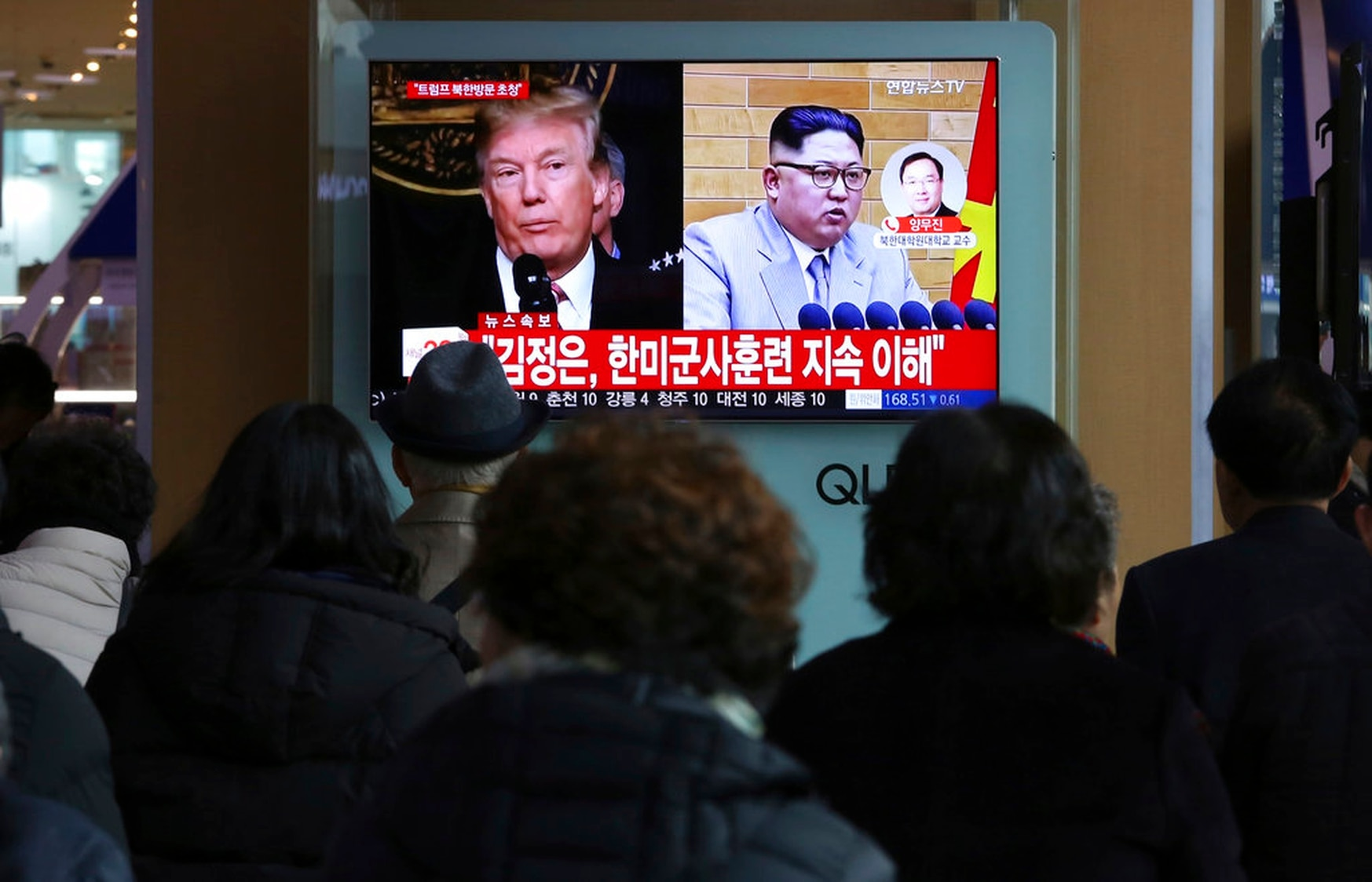 To some, frustration over cyber and intelligence options in North Korea were an inflection point in U.S. policy. (Ahn Young-joon/AP)