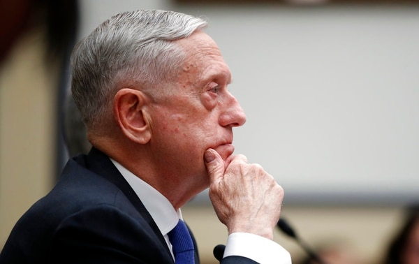 Defense Secretary Jim Mattis listens during a hearing of the House Armed Services Committee on Capitol Hill, Tuesday, Feb. 6, 2018, in Washington. (Alex Brandon/AP)
