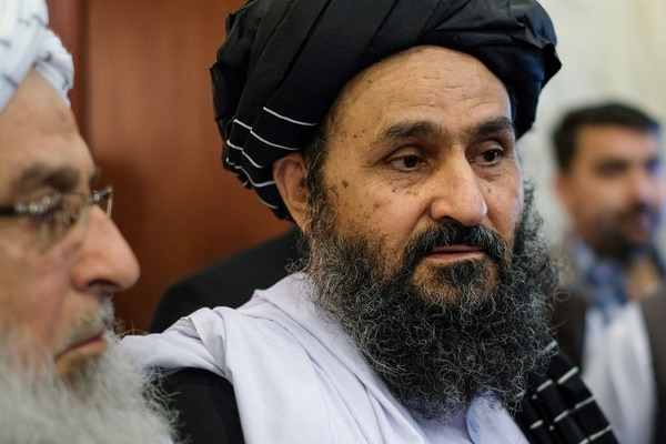 Taliban co-founder and political leader Mullah Abdul Ghani Baradar attends talks with Afghan political figures in Moscow on May 30, 2019. (Nikolay Korzhov/AFP via Getty Images)