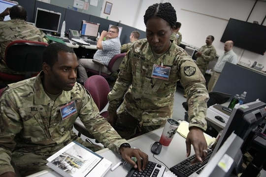 New documents made available through Freedom of Information Act shed light on anti-ISIS cyber operations in which Cyber Command thought about passing aim points to foreign partners. (U.S. Cyber Command Public Affairs)