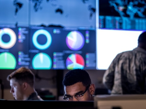 Congress is demanding several new reports and oversight mechanisms over DoD cyber operations and readiness of the cyber force. (J.M. Eddins Jr./Air Force)