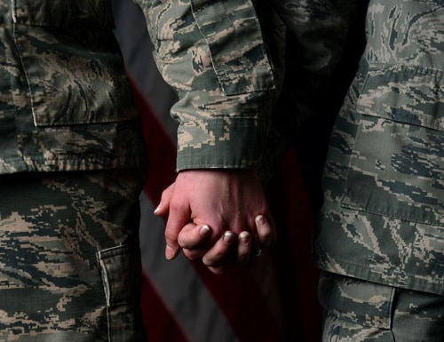 You and your military spouse will be part of a VA joint loan only if the loan is in both of your names and you're both using VA loan benefits. (Senior Airman Aubrey White/Air Force)