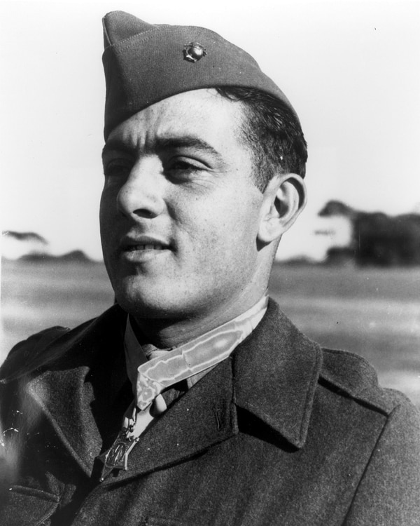 Gunnery Sergeant John Basilone became a Marine Corps legend for his actions on Guadalcanal.