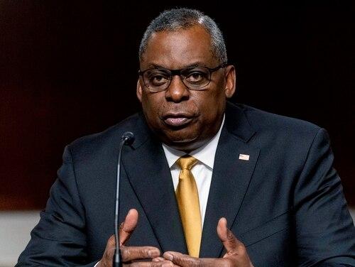 Defense Secretary Lloyd Austin speaks at a Senate Armed Services budget hearing on Capitol Hill in Washington, Thursday, June 10, 2021. (Andrew Harnik/AP)