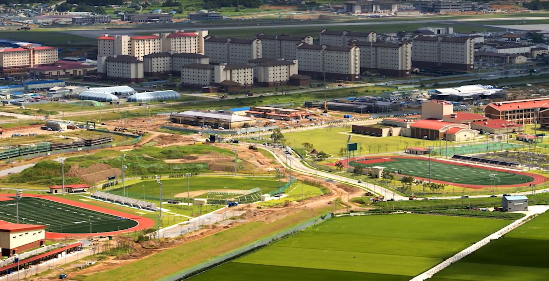 At nearly $11 billion, Camp Humphreys is the largest construction project in U.S. Defense Department history, most of it paid for by the South Koreans. (Army)