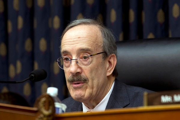 House Foreign Affairs Committee Chairman Rep. Eliot Engel, D-N.Y., speaks during the House Foreign Affairs subcommittee hearing on Venezuela at Capitol Hill in Washington, Wednesday, Feb. 13, 2019. (AP Photo/Jose Luis Magana)