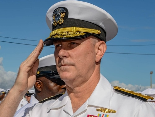 Then-Rear Adm. Christopher Grady, seen here in November 2015 as commander of Littoral Combat Squadron Two in Jacksonville, Fla., will take command of Fleet Forces Command May 4 in Norfolk. (Petty Officer 3rd Class Timothy Schumaker/Navy)