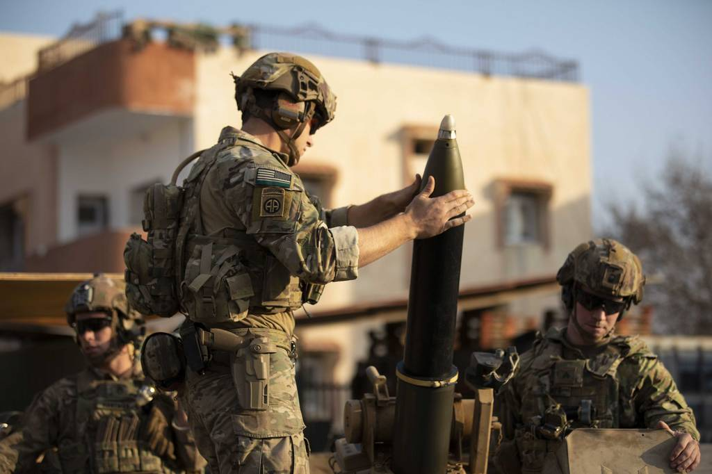 Paratroopers from 2nd Brigade Combat Team, 82nd Airborne Division conduct a training exercise in northeast Syria on Dec. 3, 2020, while supporting Operation Inherent Resolve.