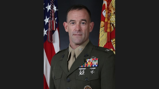"""Col. James """"J.P."""" McDonough III graduated from the U.S. Naval Academy in 1994. (Marine Corps)"""