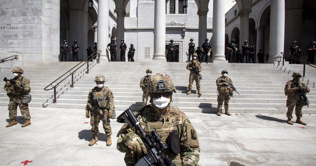 Dozens of troops sounded off on the use of the military to help quell civil unrest. This is what they said.