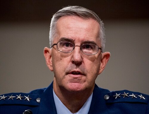 The future of electromagnetic spectrum superiority will land mostly on the shoulders of the services, not the joint community, according to the vice chairman of the Joint Chiefs of Staff. (Andrew Harnik/AP)