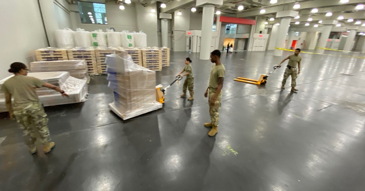 The Army Corps of Engineers has two or three weeks to get thousands of new hospital beds up and running