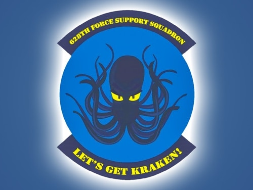 A patch for the 628th Force Support Squadron at Joint Base Charleston in South Carolina. (John Bretschneider/Staff)
