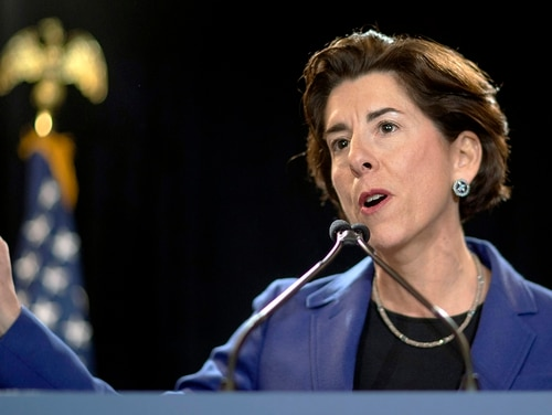 In this Feb. 5, 2020, file photo, Rhode Island Gov. Gina Raimondo speaks at an event in Providence, R.I. (David Goldman/AP)