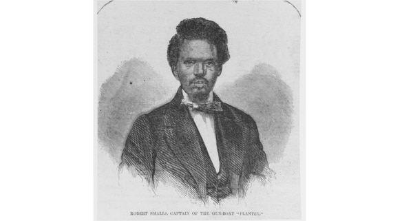A Union hero of the Civil War, Robert Smalls, captain of the gunboat Planter. Engraving published in Harper's Weekly, 1862. (U.S. Naval History and Heritage Command)