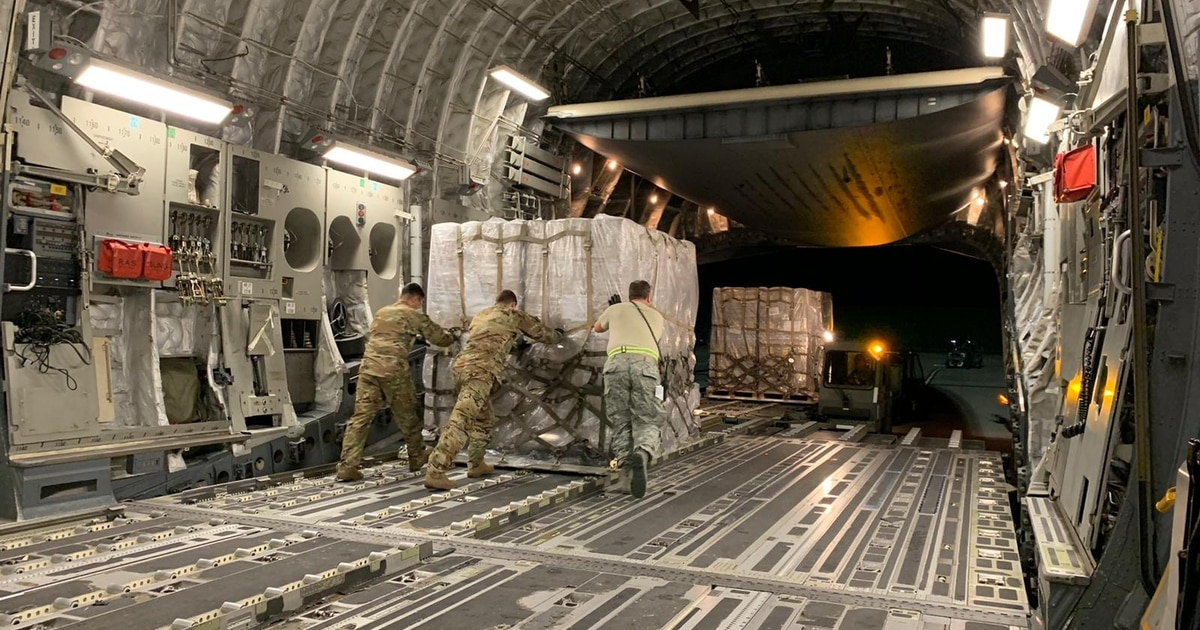 Inside one Air Force C-17 crew's journey to bring COVID-19 test swabs to the US