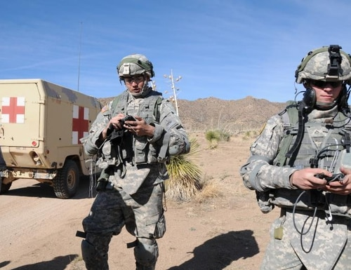 The Army is seeking new technologies to assure soldiers can securely, conveniently access and exchange tactical information, even in degraded environments. (Michael McCarthy/Army)