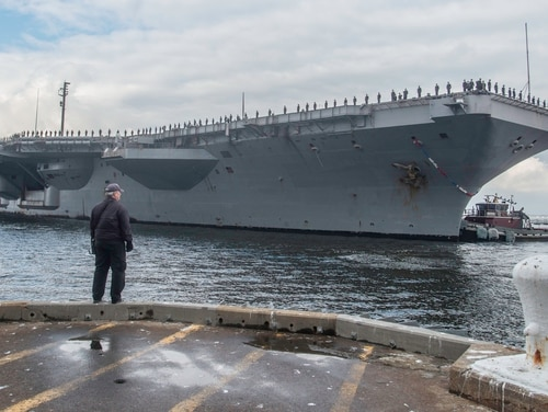 The Navy confirmed that the aircraft carrier Harry S. Truman and its strike group will embark on a third deployment in four years. (Mark D. Faram/Staff)